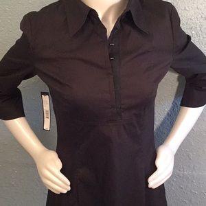 ELIE TAHARI Sz 8 Shirt Dress Black NWT